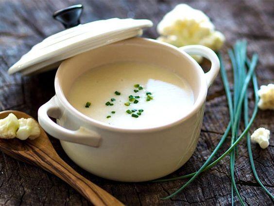 Velouté de chou-fleur au Thermomix - Cookomix   Velouté chou fleur, Recettes de cuisine, Potage ...