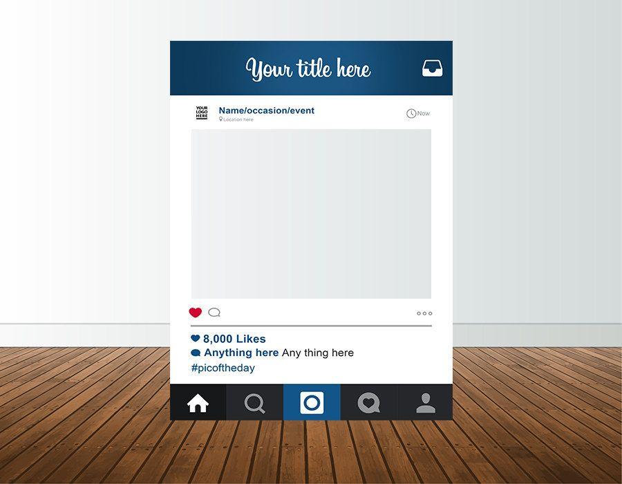 custom design instagram frame photo booth prop digital
