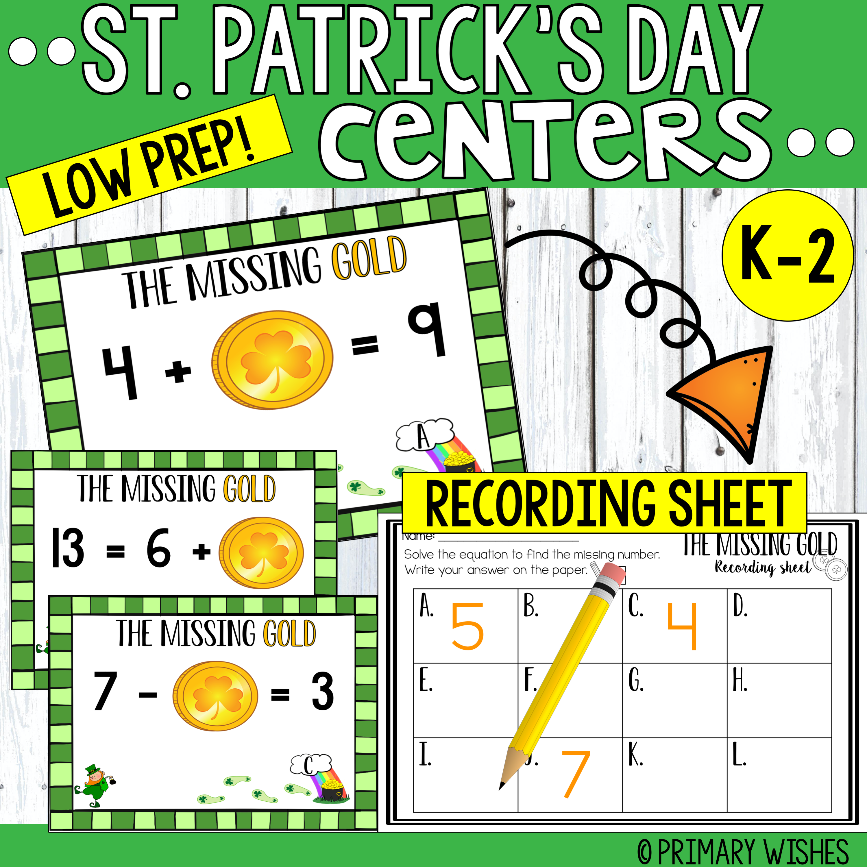 St Patrick S Day Math Centers In