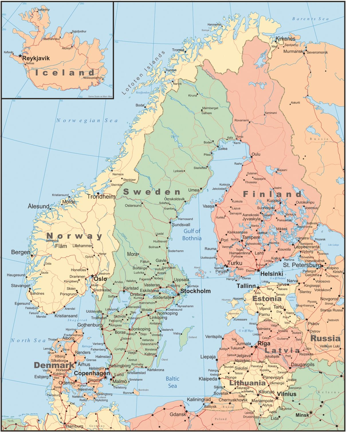 View Our Map Of Scandinavia And Learn About A Variety Of Tours - Tours map