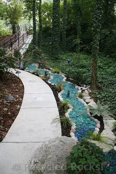 Recycled Glass Landscape | Recycled Rocks!   Glass Landscaping Rocks