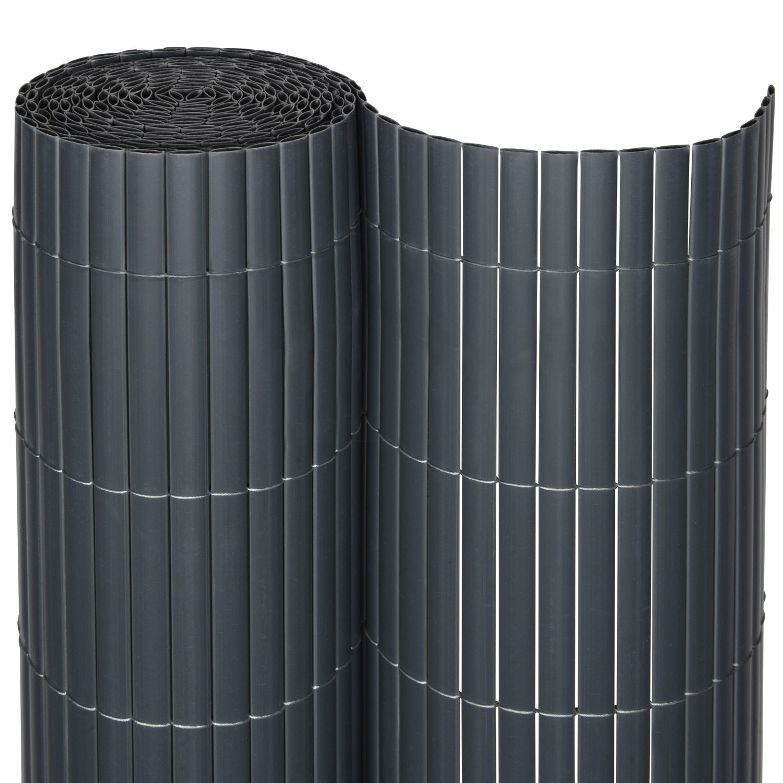PVC Sichtschutzzaun SolVision 140 x 600 cm anthrazit 140 x