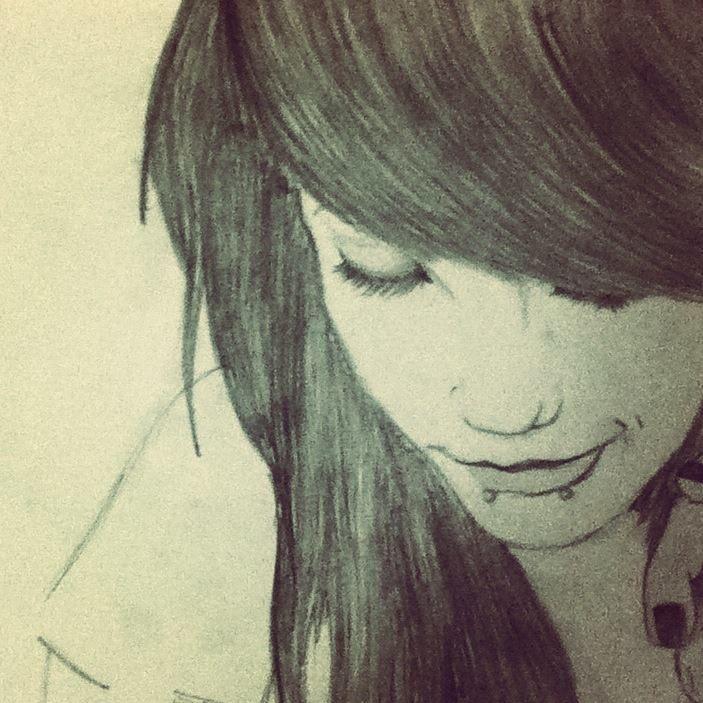 Emo Pencil Drawing Emo Sad Girl Crying Drawing Emo Girl By