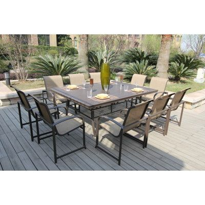 Tiago 11 Piece Dining Set | Bellini Tiago 11 Piece Dining Set (BJA35411)