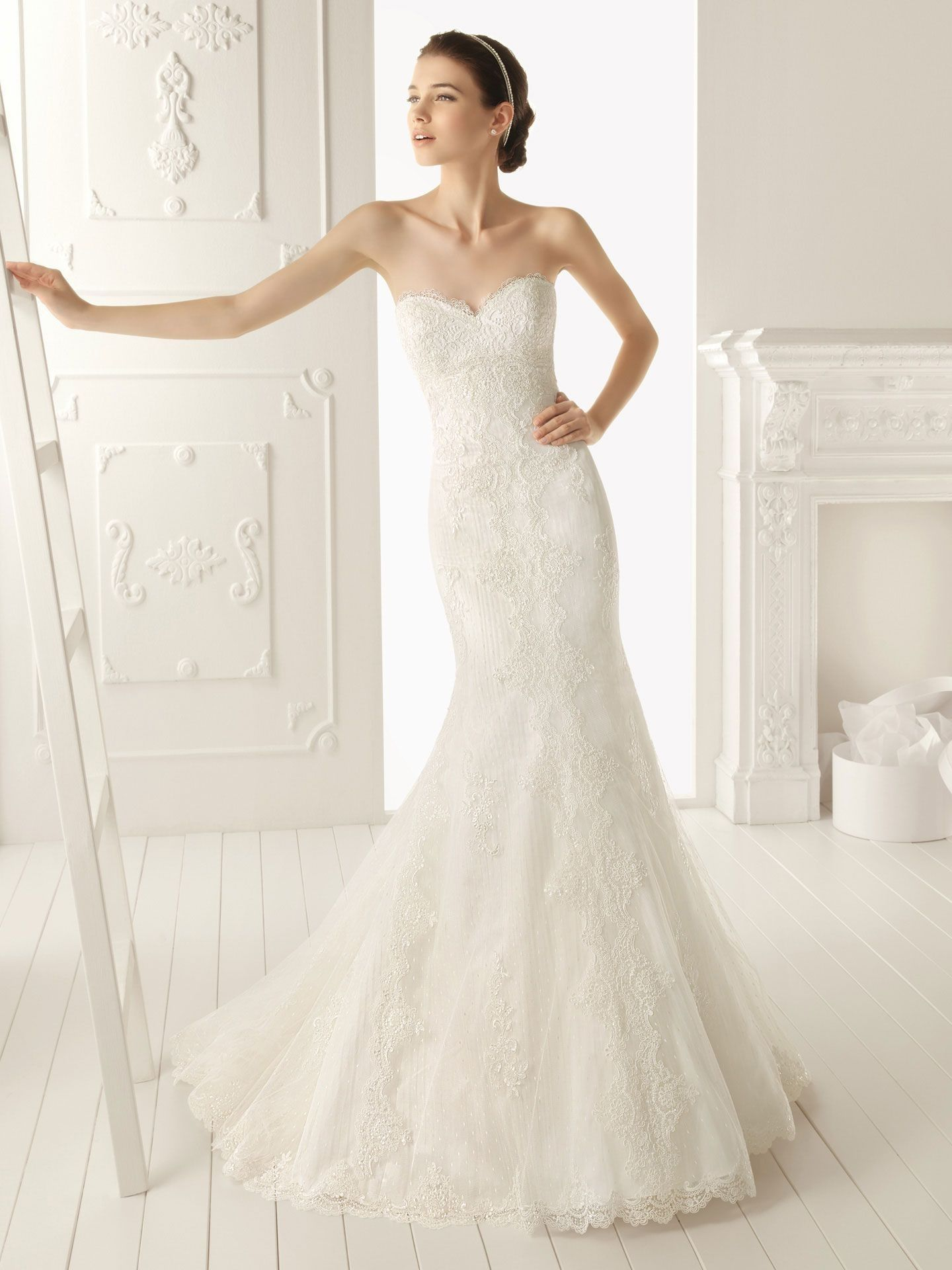 Beach wedding dresses mermaid style  Full image  ウェディングドレス  Pinterest  Neckline Mermaid and