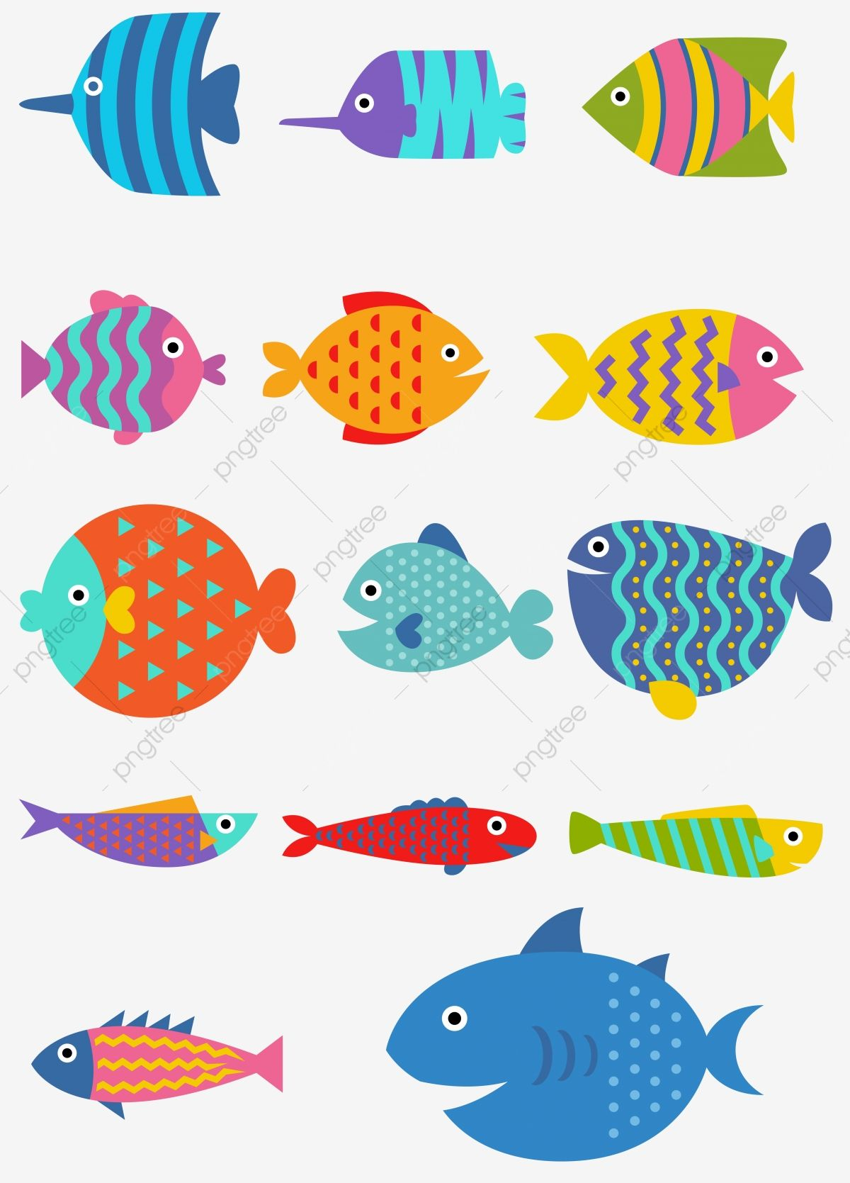 Cute Fish Ocean Water Animal Png And Vector With Transparent Background For Free Download Fish Illustration Cute Fish Fish Graphic