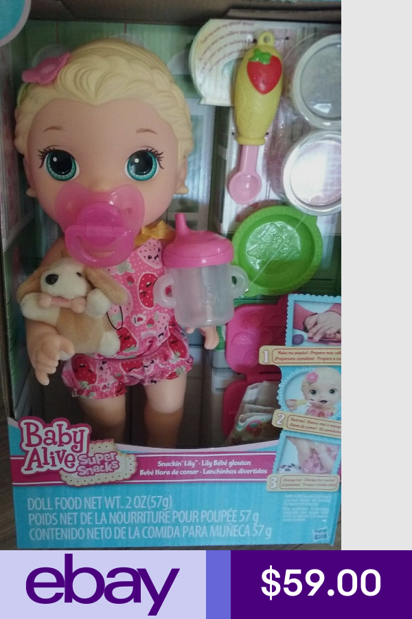 Baby Alive Blonde Snackin Lily Snacks W Sippy Cup Paci And Her Puppy Baby Doll Nursery Baby Alive Doll Clothes Baby Alive Dolls