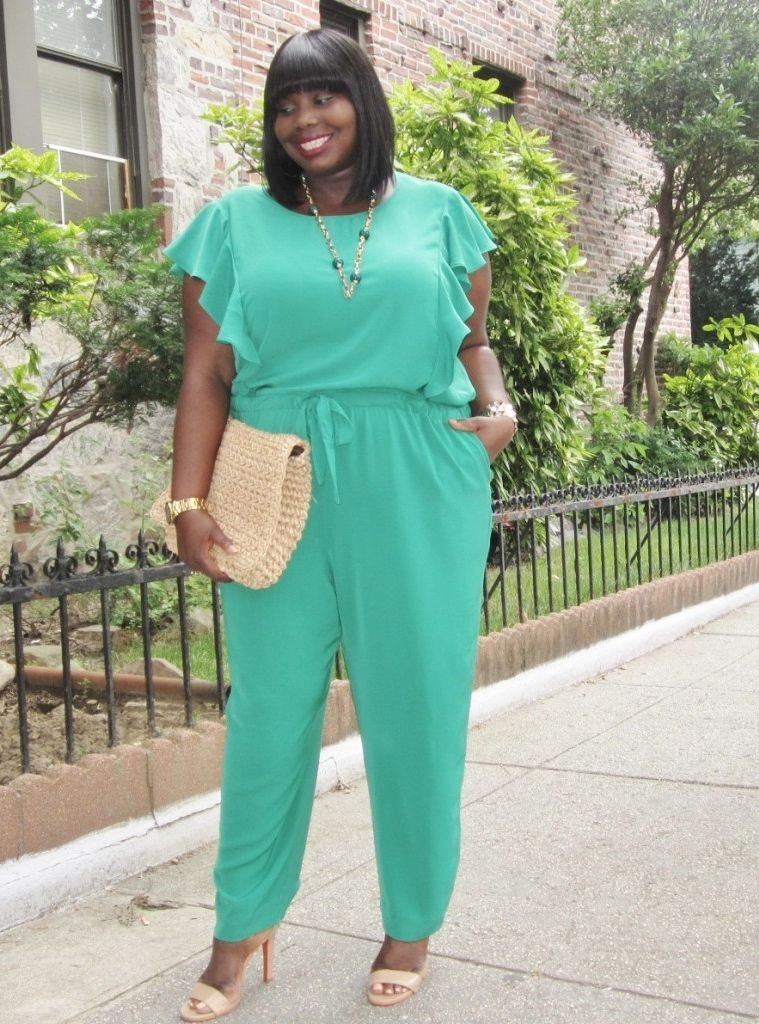 e6d5cfb7b5a STYLE JOURNEY  DKNY PLUS SIZE RUFFLED JUMPSUIT