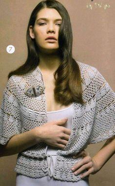 Blusa abierta con mangas anchas