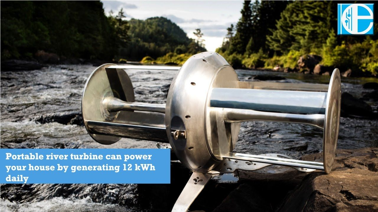 Portable River Turbine Can Power Your House By Generating 12 Kwh Daily Water Generator Water Turbine Power Generator