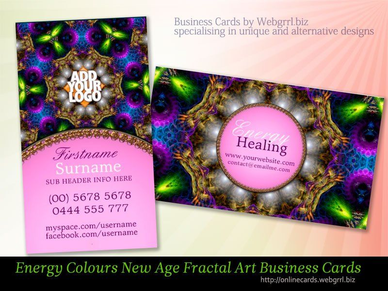 Energy Colours Healing New Age Pink Business Cards By Onlinecards