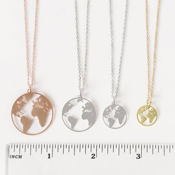 Earth necklace world map necklace rose world necklace earth necklace world map necklace rose world necklace globetrotter necklace rose gold dainty necklacetravel jewelrywanderlust pendant gumiabroncs Choice Image