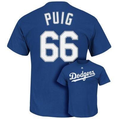 Men's Majestic Los Angeles Dodgers Yasiel Puig Tee $14.00