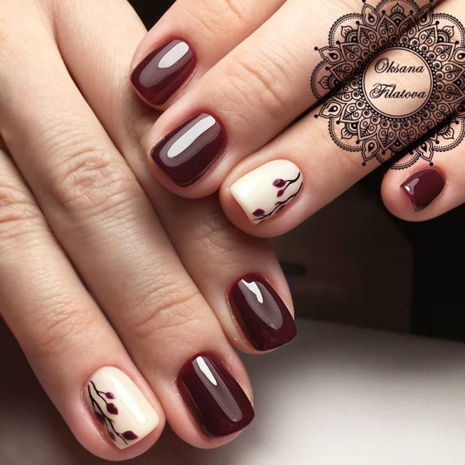 Pretty 27 Dazzling Maroon Nails Designs | Maroon nail designs ...