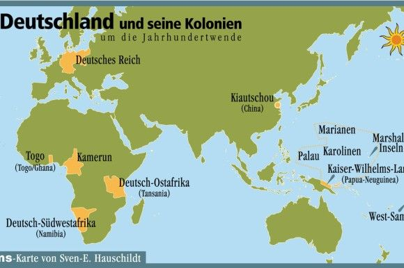 karte deutsche kolonien deutschland und seine kolonien; the once former german colonies
