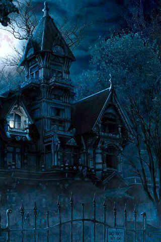 Haunted Mansions iPhone Wallpaper Creepy houses