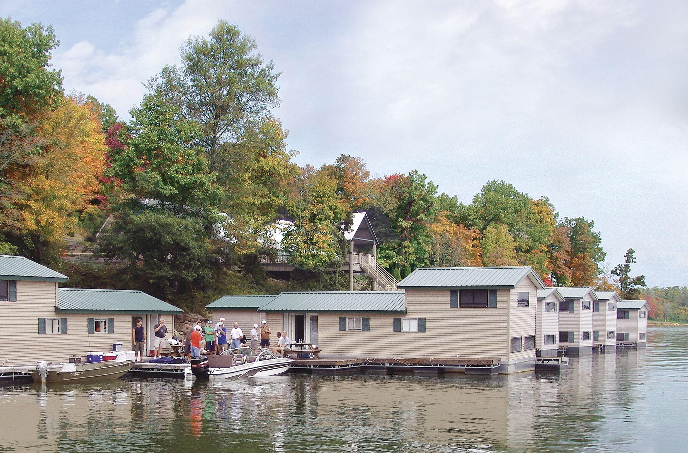 Floating cabins patoka lake marina lodging cabin