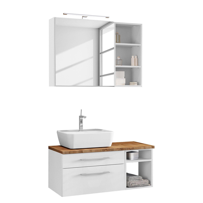 Salle De Bain 3 Elements Davos Ii In 2020 Waschtisch Set Unterschrank Und Waschtischunterschrank