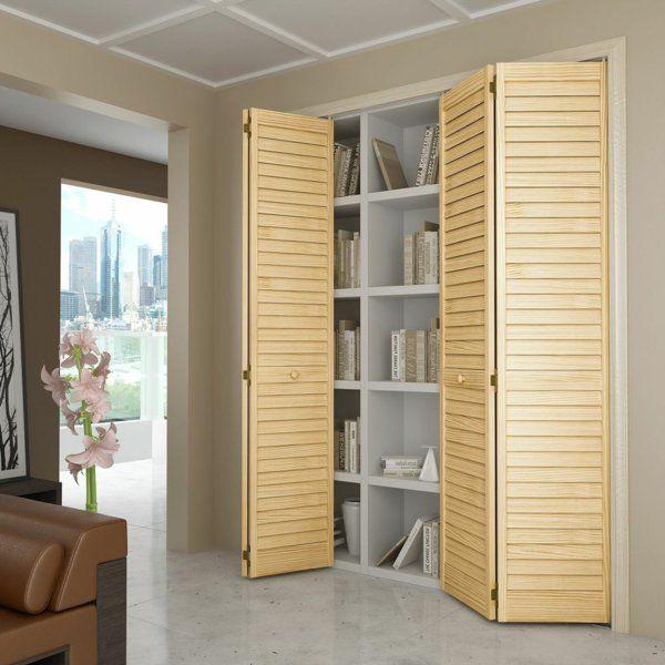 Les portes de placard pliantes pour un rangement joli et moderne - Peindre Des Portes En Bois