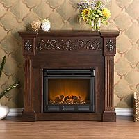 Del Ray Electric Fireplace Espresso Electric Fireplace