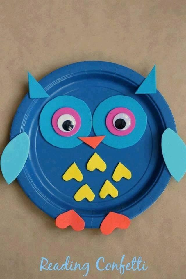 An easy paper plate owl craft for fall crafts or to go with a study on nocturnal animals & Pin by Kim Williams on School | Pinterest | School and Craft