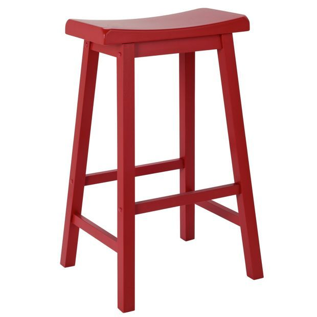 Argos Kitchen Bar Table And Chairs: Buy Wooden Saddle Bar Stool