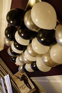mirror balloon collage...easy, james bond party | Be Envied Entertaining