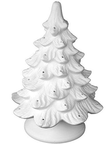 traditional lighted christmas tree paint your own ceramic keepsake - Paint Your Own Ceramic Christmas Decorations