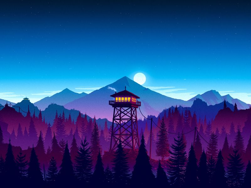 Firewatch Night Mod Anime Wallpaper Live Anime Wallpaper Best Background Images
