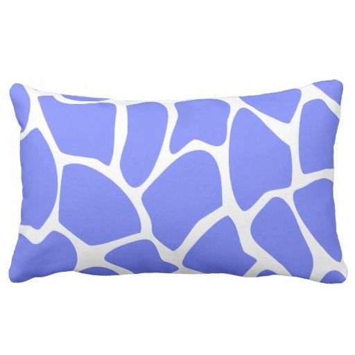 Giraffe Print Pattern in Cornflower Blue. Throw Pillow