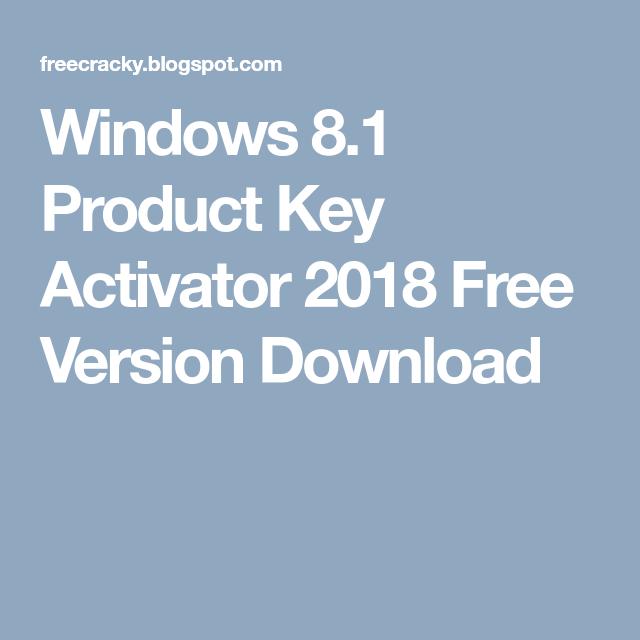 win 8.1 activator 2018