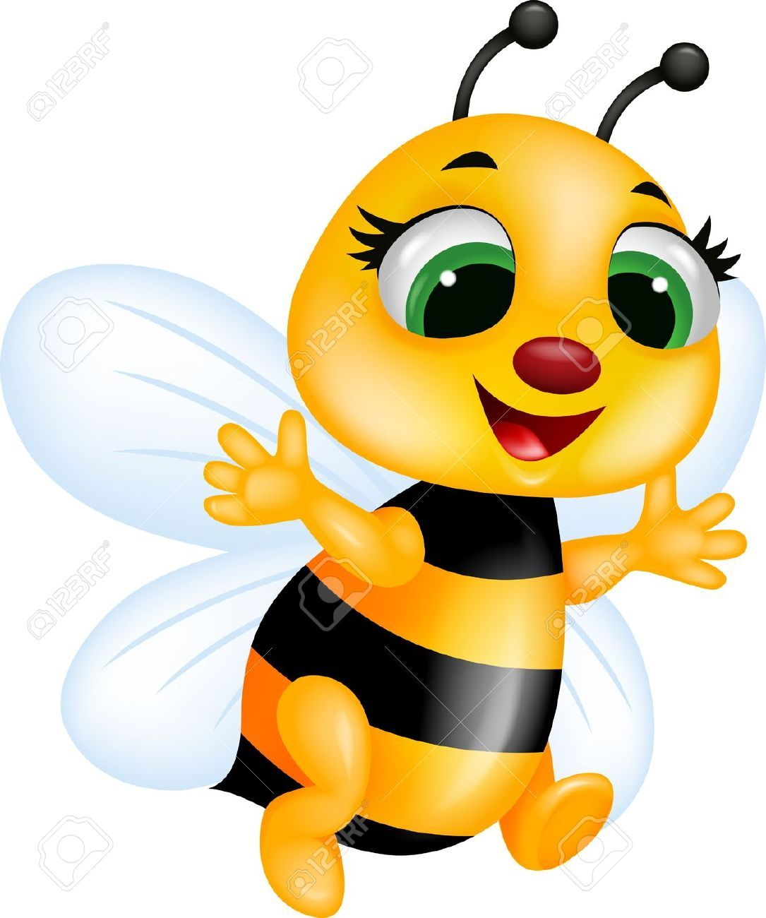 Bee Cartoon Royalty Free Cliparts, Vectors, And Stock Illustration ...