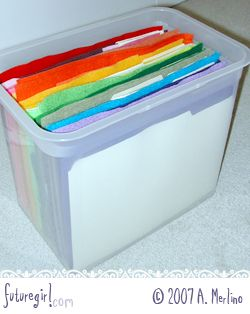 how to store felt sheets