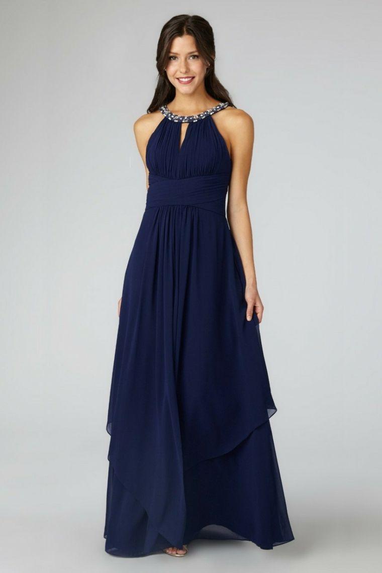 Vestito di colore blu con tulle fluido e fascia sulla pancia 5b57c8b1b48