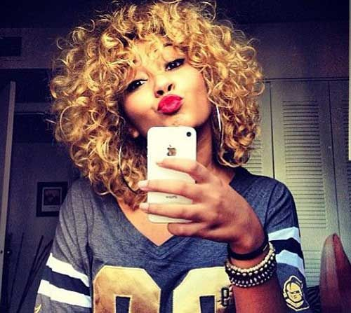 Short Haircuts For Curly Weave Hair Jpg 500 447 Quick Weave Hairstyles Haircuts For Curly Hair Curly Hair Styles