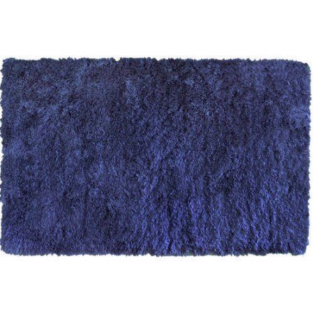 Home Dynamix - Paramount Collection , Flokati Microfiber Shag Rug for Modern Home Dᅢᄅcor, Blue