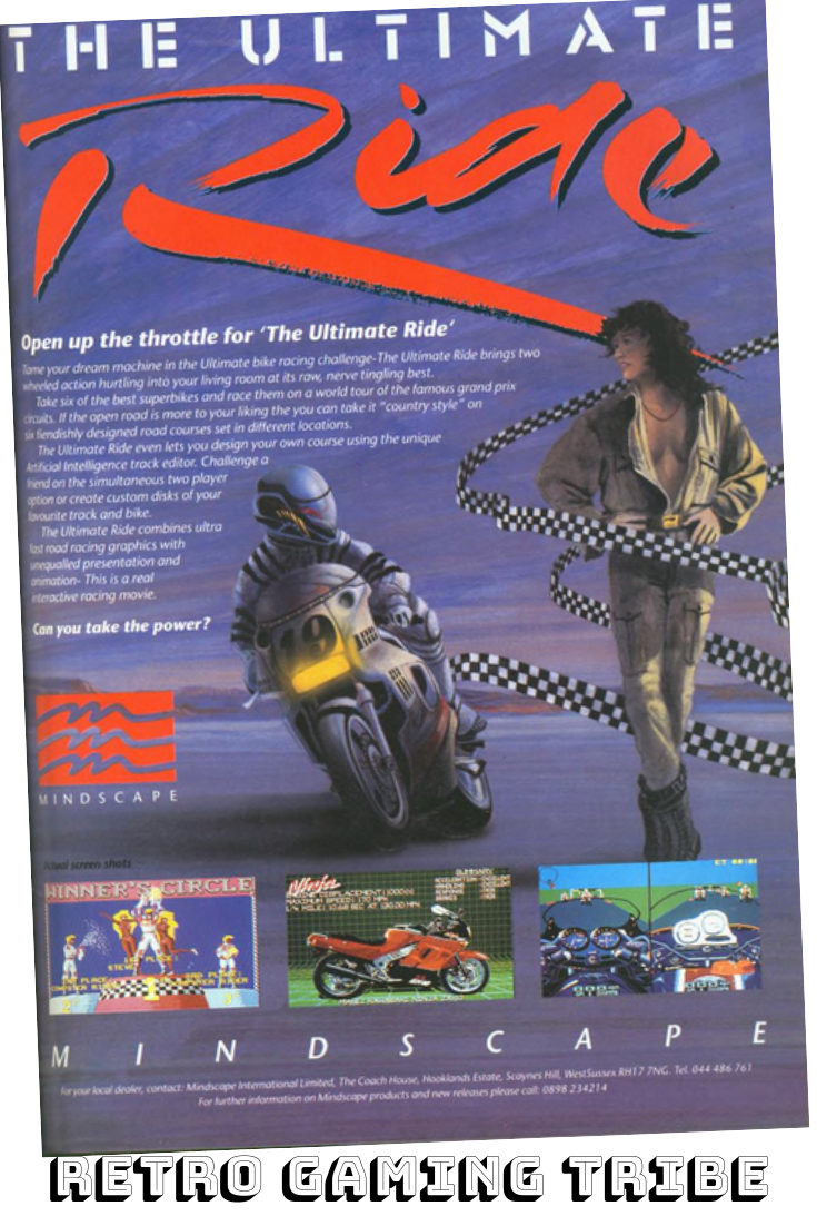 Console Magazine Gaming Magazine Ad For The Ultimate Ride By Mindscape Software