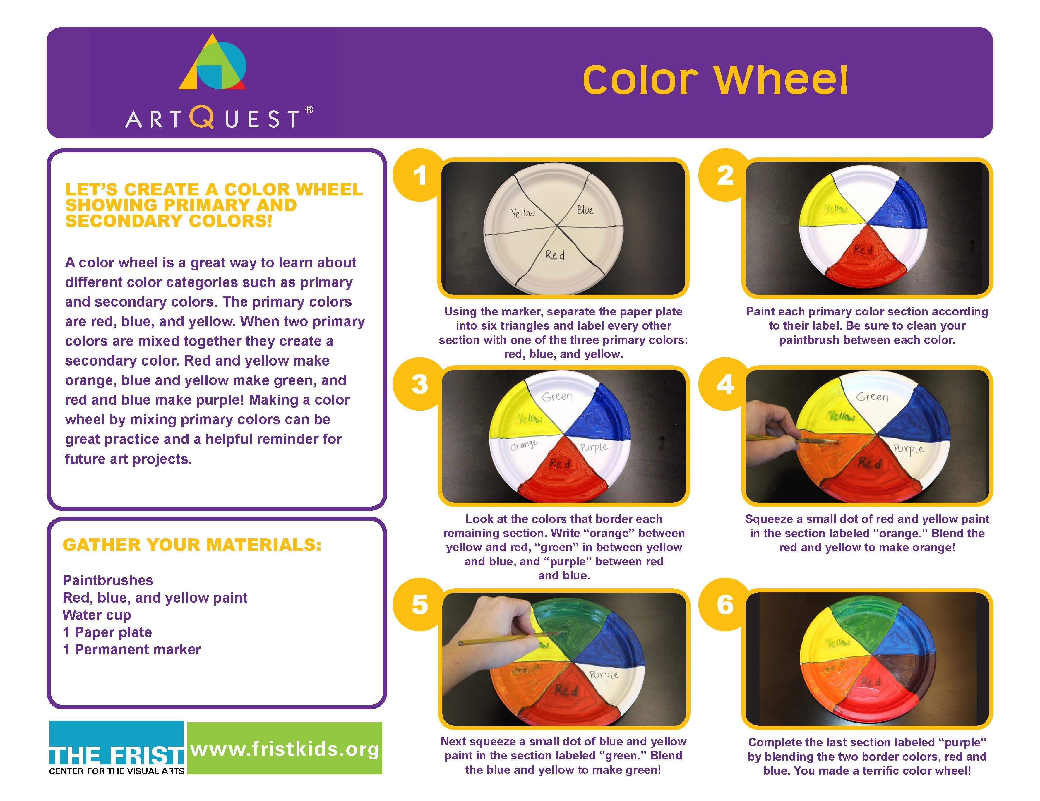 At Home Activity Color Wheel