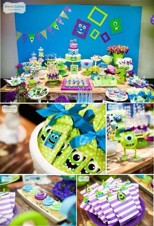 Monster Inc Theme Party Templates In 2019 Monster Inc