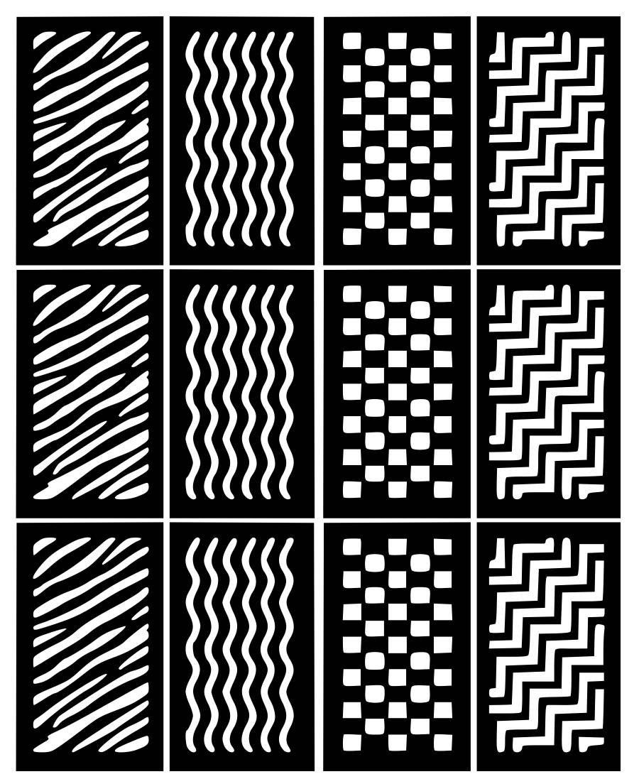 10 New Designs Nail Art Stencils Vinyl Decal Stickers