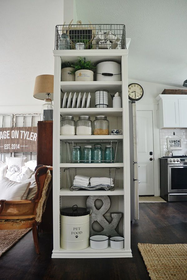 diy bookshelf made from all closet doors see how to make this piece for practically free - Kitchen Bookshelves