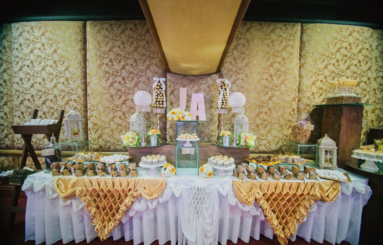 Created this candy dessert buffet for my parents 50th wedding