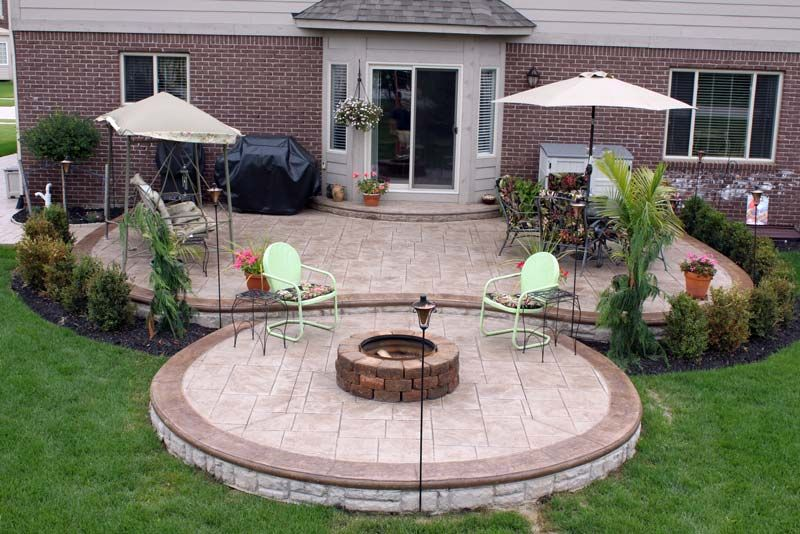 Slideshows photo gallery stamped concrete macomb county for Hoguera jardin