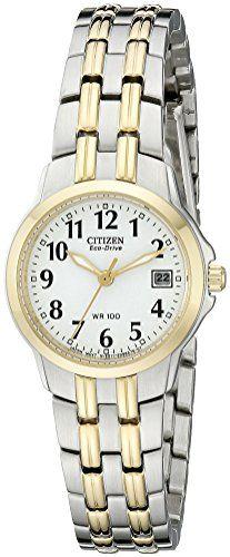 Citizen EcoDrive Womens EW154453A Silhouette TwoTone Stainless Steel Watch      Check out the image. Relógios EsportivosRelógios FemininosRelógios ... e6e4869d4c