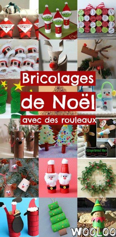 Bricolages de Noël avec des rouleaux de papier - Wooloo #activitémanuelleenfantnoel