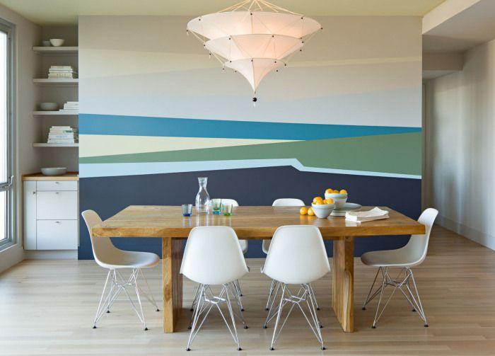 15 эффектных идей для акцентных стен, которые вдохновят на ...  Простой Интерьер Рисунок
