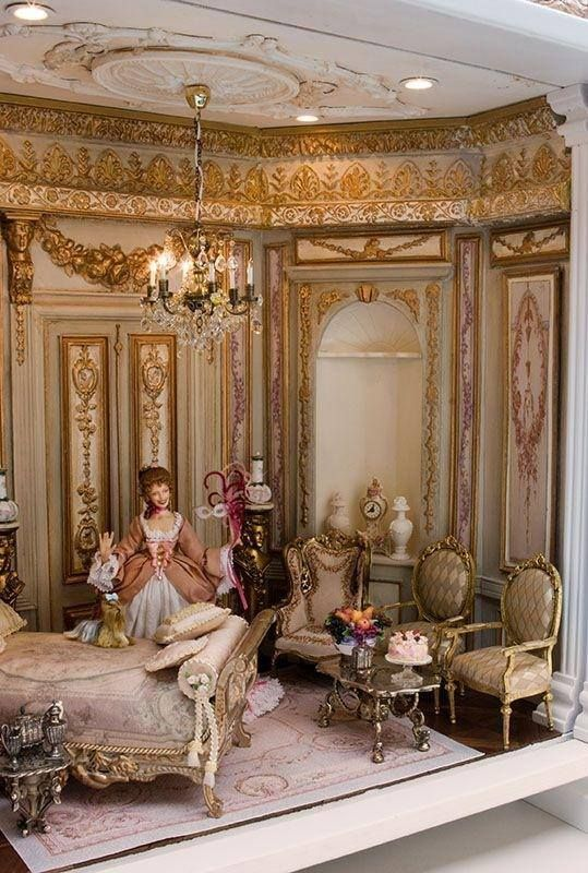 Marie Antoinette Room Box In 1 12 Scale Miniature Dolls House Interiors Miniature Rooms My Doll House