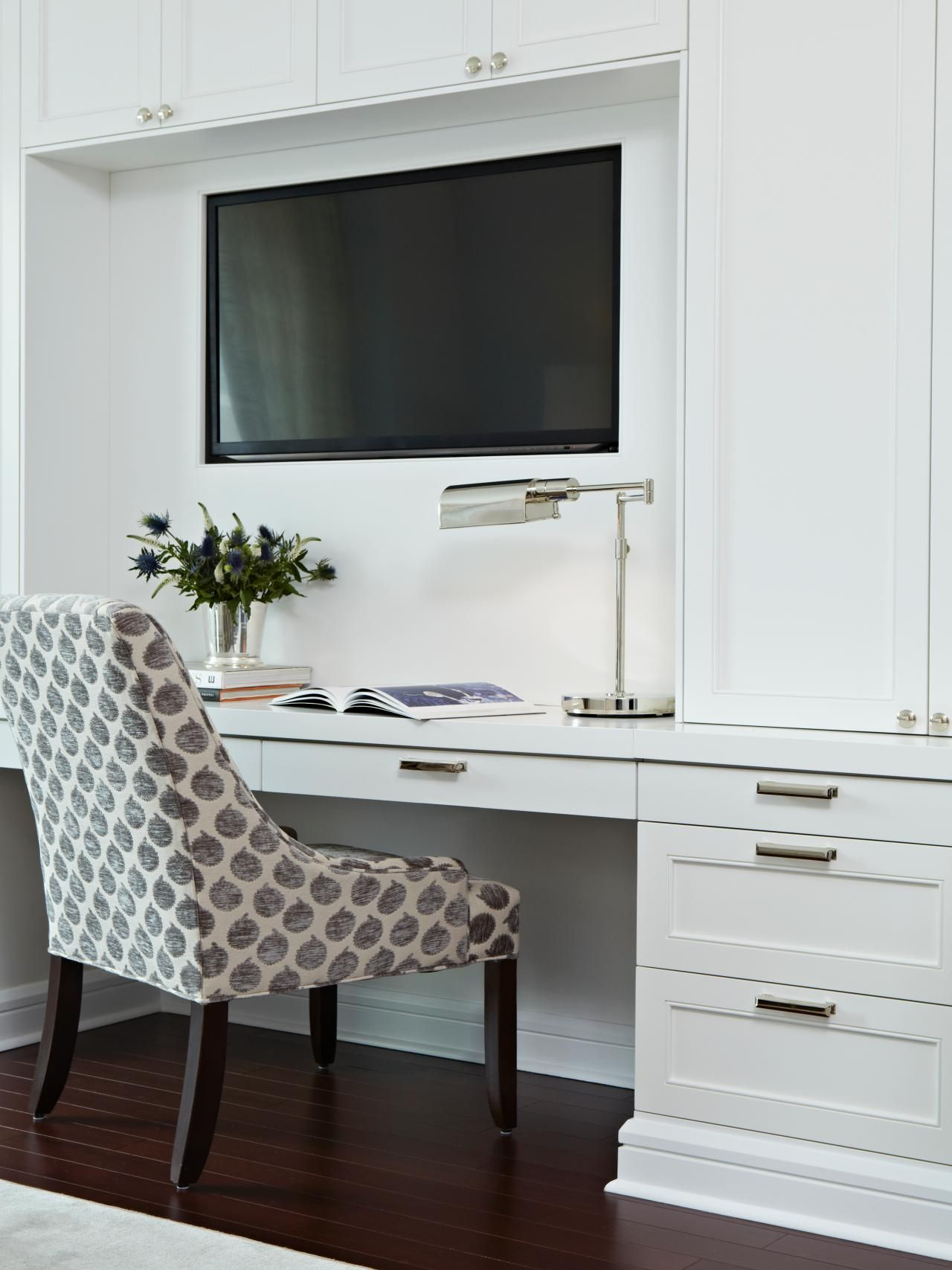 Custom Bedroom Built Ins With Integrated Tv Desk Bedroom Built Ins Desk In Living Room Bedroom Interior