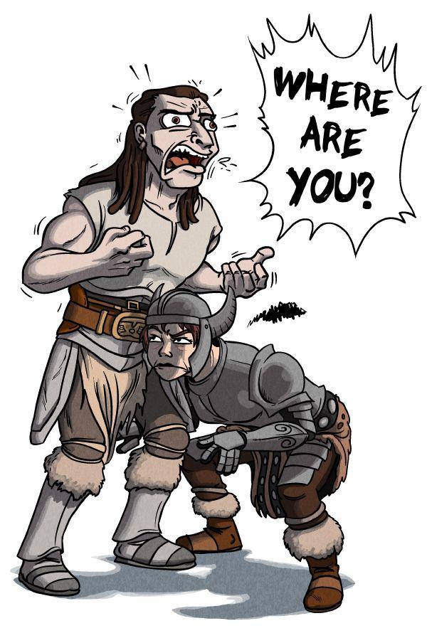 Sums Up The Ai Perfectly Skyrim Comic Elder Scrolls Memes Skyrim Funny
