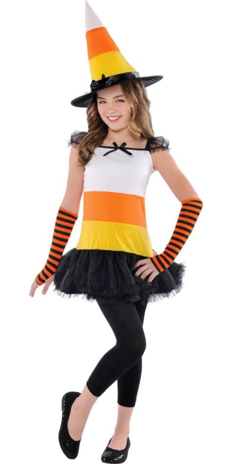 Girls Candy Corn Charmer Costume - Party City   Costumes & Make up ...